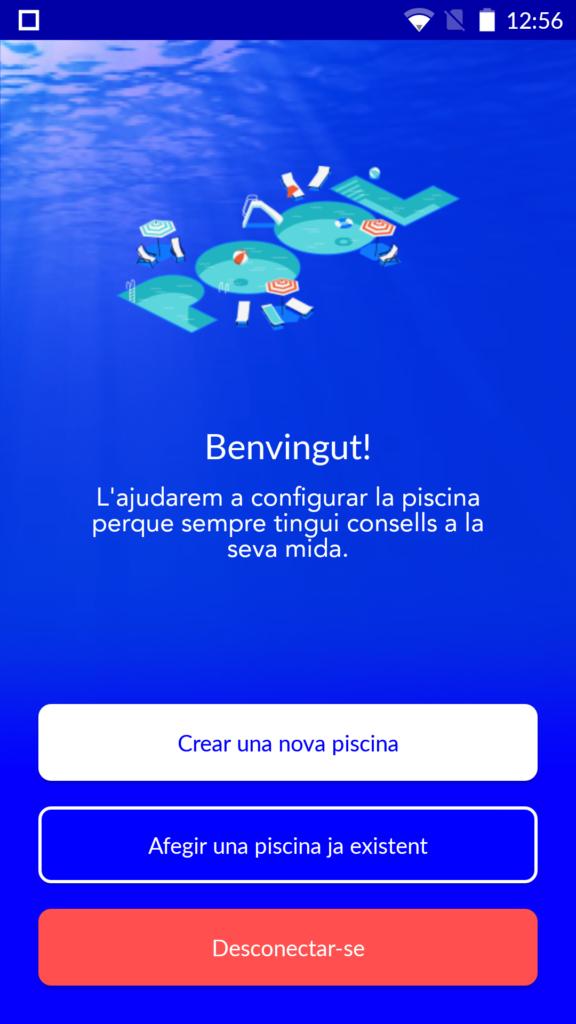utilitzar l'aplicació de blue connect d'astral pool, afegeix una piscina. Espai Piscines Graf